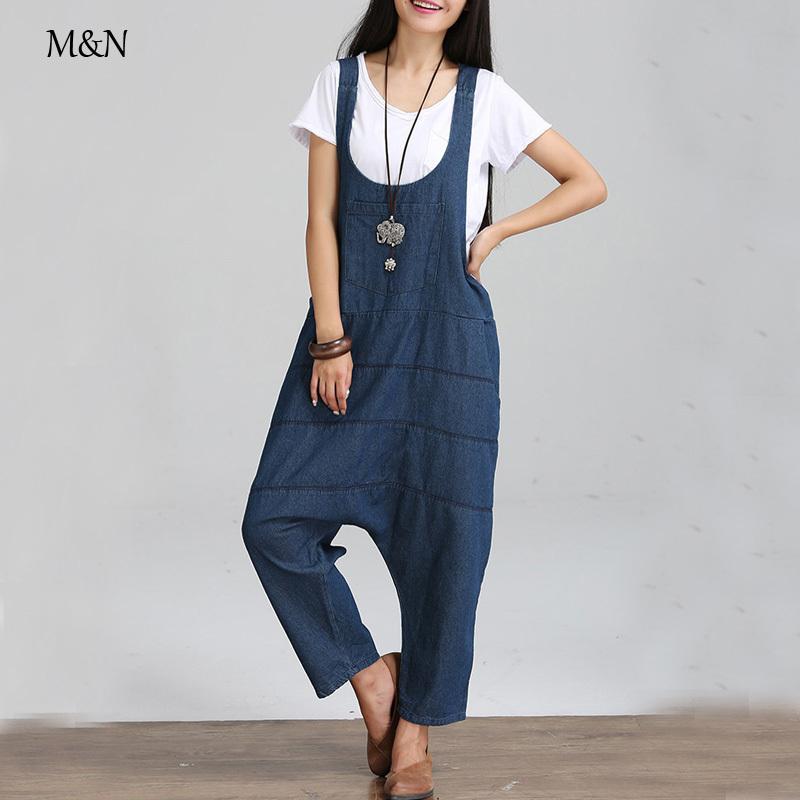 2015 Casual Loose Jeans Pants rompers womens jumpsuit Denim Plus Size Novelty Trousers Female Haren PantsОдежда и ак�е��уары<br><br><br>Aliexpress
