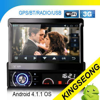 Hot 7 inch Android 4.1.1 1 Din Car PC Car DVD Player With GPS WiFi 3G Autoradio PiP SWC TV Play-Store Free Shipping+free maps