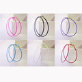 Colorful Sexy Fascinating Big Circle Girls Fashion Hoop Earrings for Women Trendy Piecing Jewelry Diameter 6
