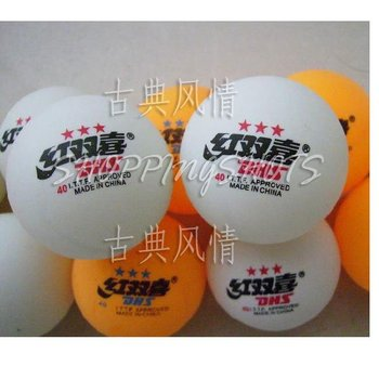 Pin Pong Table Tennis Balls Double Happine PP003 white free shipping