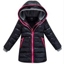 Chaquetas largas cálidas de invierno para niñas, de vestir y deportes ocasionales