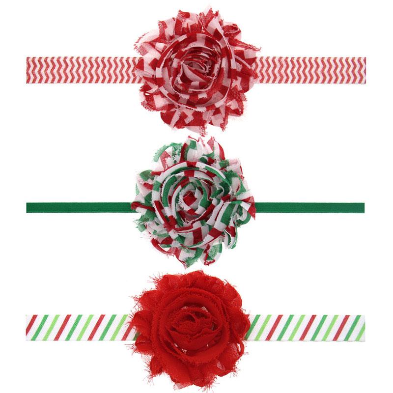 Newborn Baby Cute Shabby Flower Hair Band Chiffon Baby Headband Ribbon Elastic Hair Accessories Headwear Christmas Gift1pc HB462(China (Mainland))