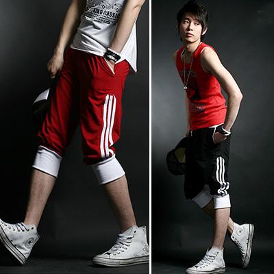Casual Men's Sports Shorts Cotton Loose Male Trousers Harem Running Basketball Pyjamas Plus XXL Size Color - shenzhen Ptatoms dress Co., Ltd. store