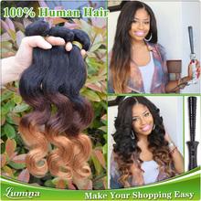 Cambodian Ombre Body Wave 18 20 22 24 Inch Virgin Cambodian Human Hair Weaving, Human Cambodian Hair Body Wave Dark Honey Blonde(China (Mainland))