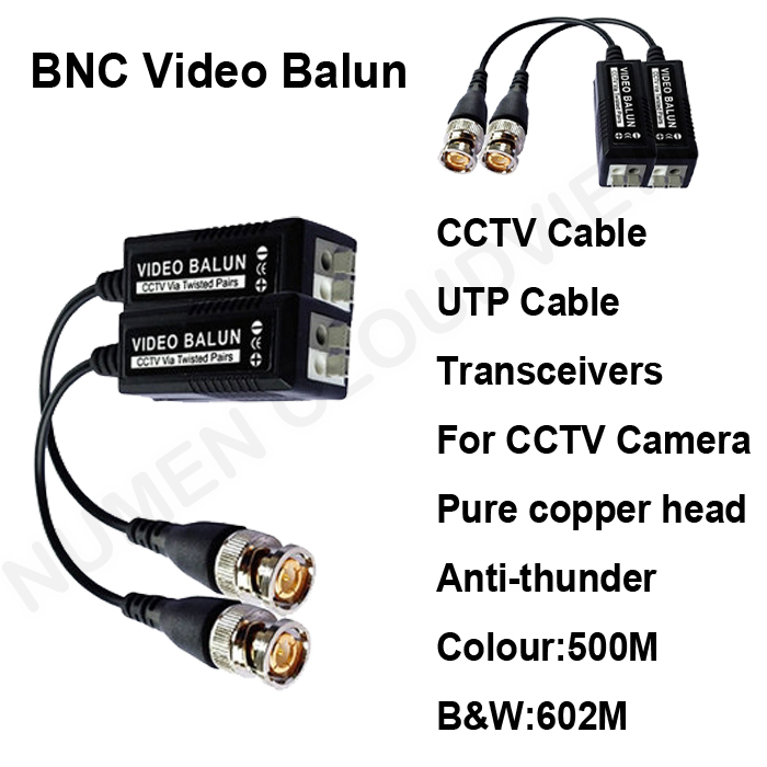 2014 Good UTP video balun BNC video Transceivers Pure copper head lightning protection CCTV spare parts for cctv camera and DVR(China (Mainland))