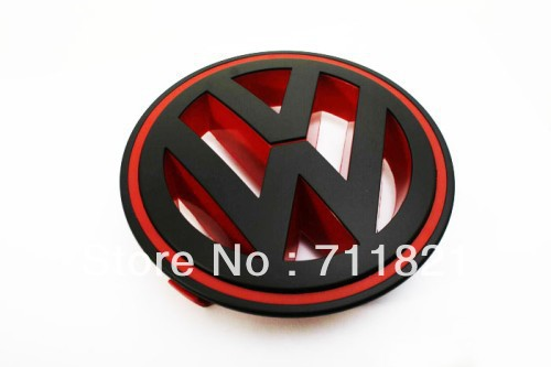 Matte Black / Red Color Front Grille Emblem For VW Volkswagen Jetta MK5(China (Mainland))