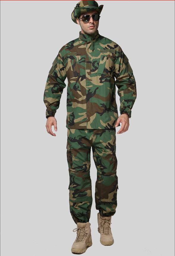 arrivell!Woodland Camouflage BDU, Combat BDU Uniform,military uniform BDU,hunting suit,Wargame,COAT+PANTS, - Rock Soldier Design store