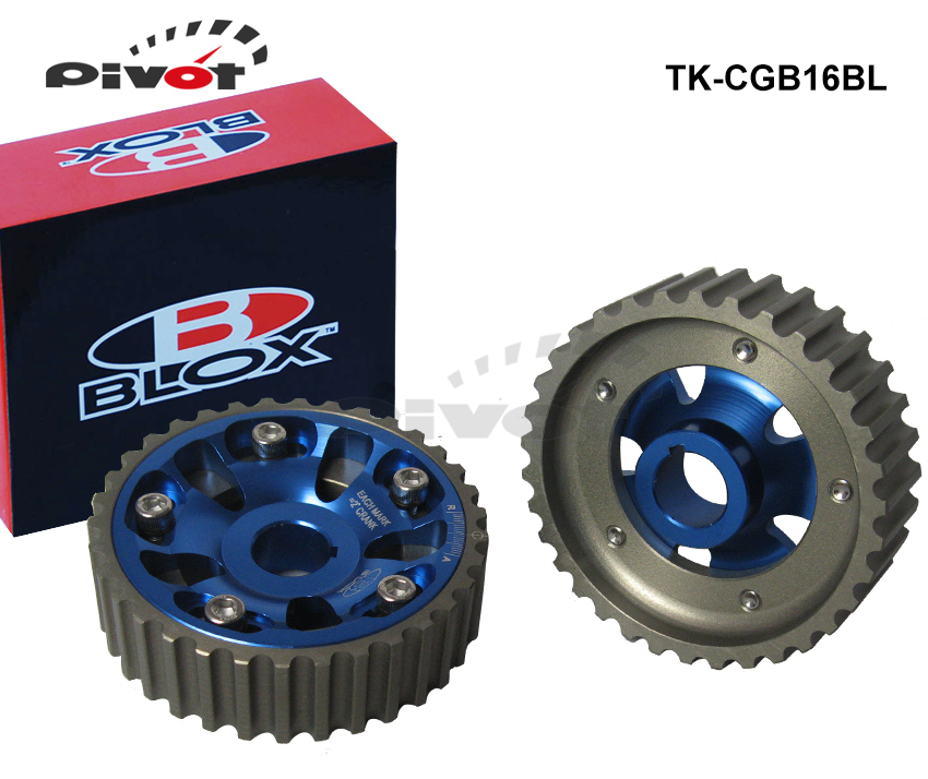 PIVOT - Blox Adjustable Cam Gears Timing Gear pulley kit For HONDA CIVIC DOHC B16A B16B TK-CGB16BL(China (Mainland))