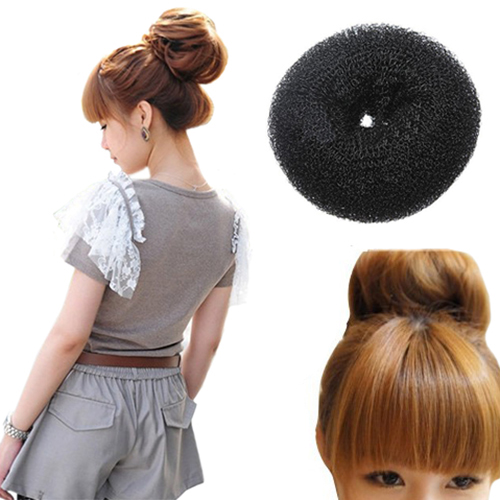 Fashion 2015 1PC Black Elastic Round Nylon Wire Hair Shaper Roller Styler Maker Accessories Band(China (Mainland))