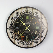 Buy Large Size Wall Clocks Vintage Flower Wooden Wall Clock Kitchen Antique Shabby Chic Retro Home Decor for $17.30 in AliExpress store