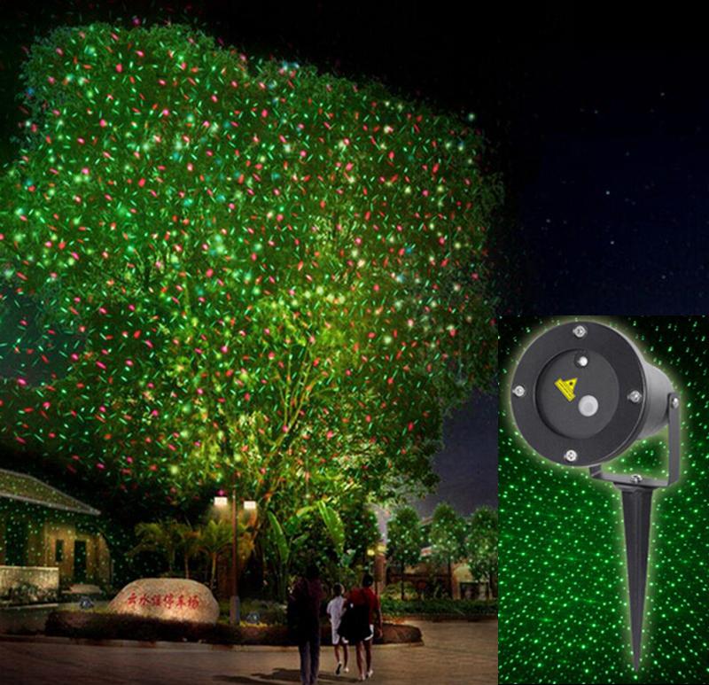 Elf licht weihnachtsbeleuchtung projektor im freien Laser/grüne und rote bewegen garten laser ...