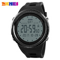 SKMEI Chronograph Wrist Watch Men Big Dial Mens Sports Watches Digital Countdown Double Time Wristwatch Military