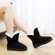 Kadın kış kar botları 2019 sıcak spor ayakkabı kürk orta buzağı çizmeler peluş astarı siyah ayakkabı kadınlar için dantel Up Chaussure femme(China)