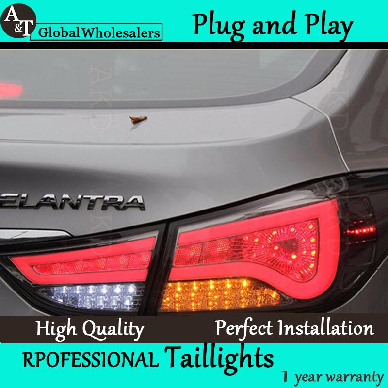 A&T Car Styling for Hyundai Elantra Taillights BMW Design New Elantra LED Tail Lamp Rear Lamp DRL+Brake+Park+Signal led light(China (Mainland))