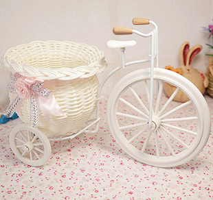 1pcs Free shipping PE storage rattan tricycle artificial flowers wedding decoration living room dining table(China (Mainland))
