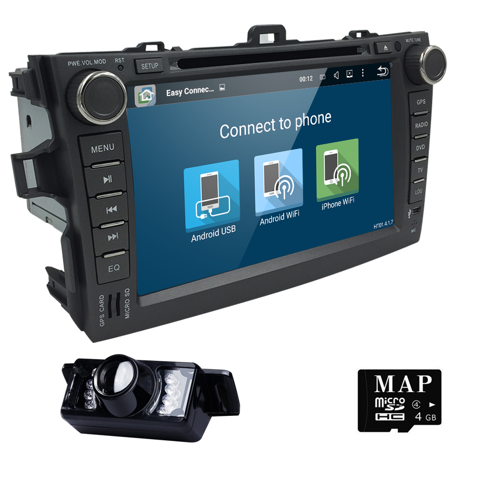 Android 5.1 Car DVD Player Toyota Corolla 2007 2008 2009 2010 2011 In Dash 2 Din 1024*600 Car Radio GPS Video Player Head Unit(China (Mainland))