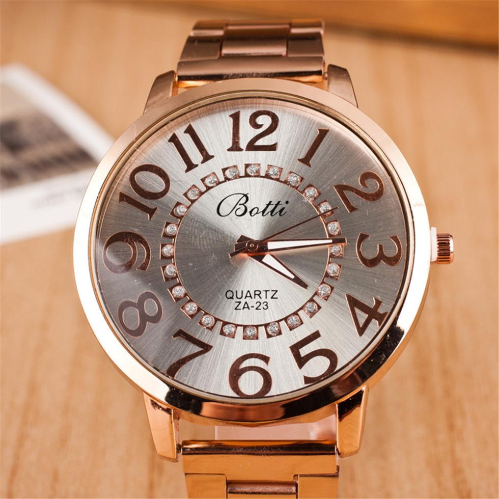 2015 fashion Arabic numerals Full Steel Watches Women dress Analog wristwatches men Casual watch Ladies Quartz watches(China (Mainland))