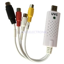 2015 new UVC Video Capture Card USB , capture analog video from VHS, Hi8, Camcorder to PC, no driver required. Free shipping