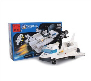 Enlighten 509 3D DIY plactic building block sets bricks eductional blocks toys gift Space Shuttle Discovery(China (Mainland))
