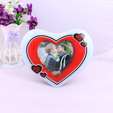 Crystal Glass Love Theme Love Couple Style Table Decor Wedding Photo Frames for Home Decor Gifts 5 x 5cm Photos(China (Mainland))
