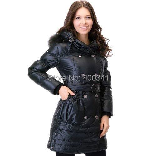 BNW женские настоящие волосы экс-тяжелый длинный пуховик гагачий пух перо платье outware одежда М-XL 20485302