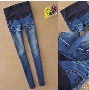 Nuevos pantalones de maternidad elástico de cintura alta Leggings Jeans pant para mujeres embarazadas barato ropa de moda sml XL XXL(China (Mainland))