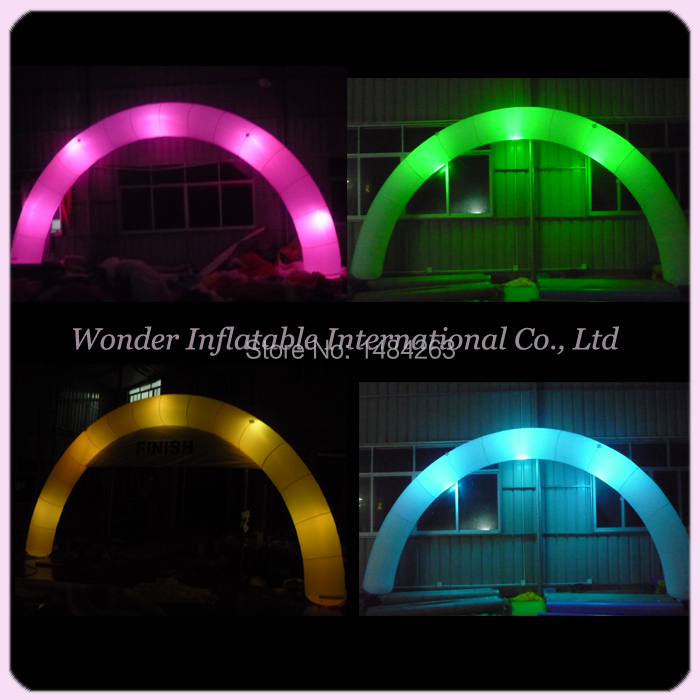 Huge Attractive Mysterious Inflatable Lighting Wedding Decoration Arch With Led For Sale(China (Mainland))