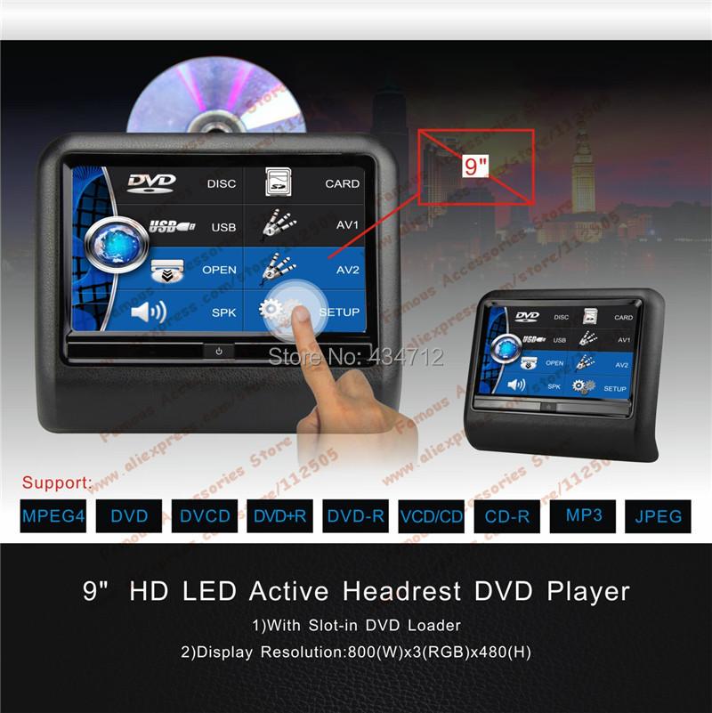 Vroom 2XHd LED clip on Car Headrest DVD Player