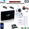 Free shipping ios android APP Wireless Home Security Wifi camera GSM SMS Burglar Alarm System G3