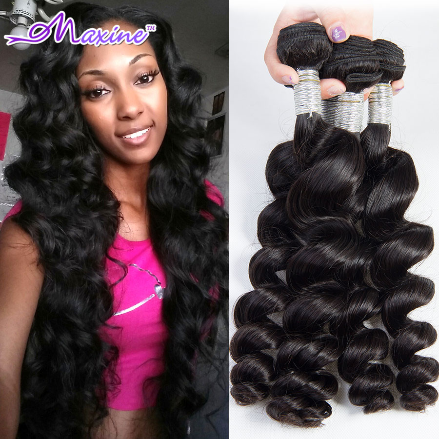 Rosa Hair Products Brazilian Loose Wave 3pcs Unprocessed