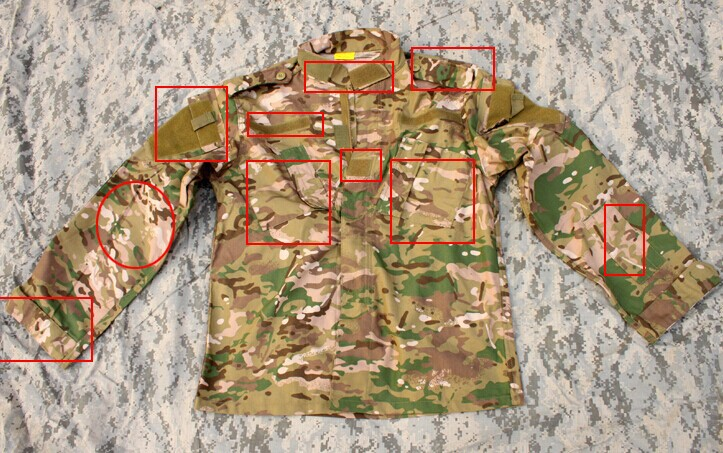 MC all-terrain camouflage combat suits training CP suit jacket twill fabric section ACU army uniform XS-XXL
