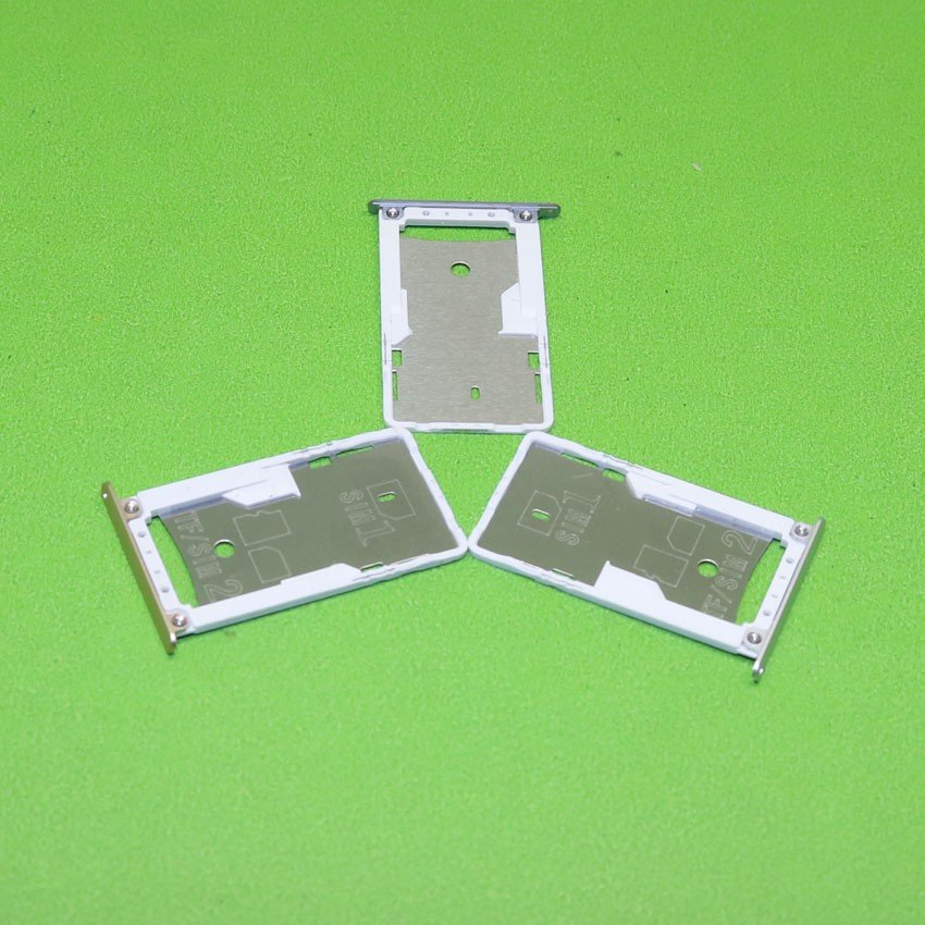 SIM Card Slot Holder for Xiaomi Redmi 3 3S Micro SD Card Slot Tray Socket Adapter Replacement Repair Parts,Gold Silver Gray