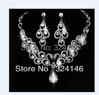 2013 New style Factory price peacock crystal bridal jewelry sets wedding necklace sets accessory