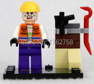 Batman II Joker Goon Hench Steamroller 76013 building block Custom Minifig MARVEL Super Heroes minifigure decool