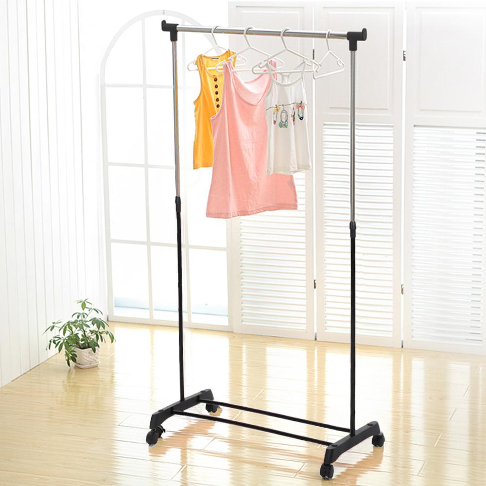 iKayaa US UK FR Stock Garment Rack Clothes Garment Hanging Rack Heavy-duty Rolling Cloth Organizer(China (Mainland))