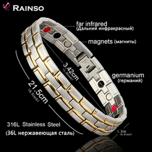 Buy Healing Magnetic Bracelet Men/Woman 316L Stainless Steel 3 Health Care Elements (Magnetic,FIR,Germanium) Gold Bracelet Hand Chain for $8.69 in AliExpress store