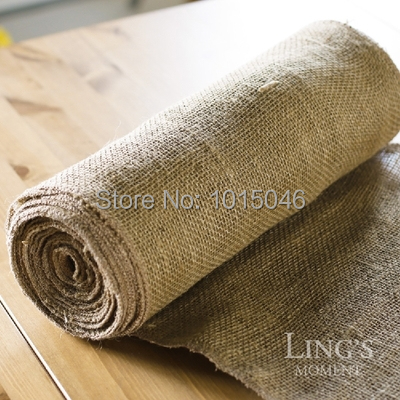 Здесь можно купить  Free Shipping 10 Meters 35.5cm Width Jute Table Runner Burlap Fabric For Burlap Chair Sashes Burlap Ribbon Hessian DIY Supply  Дом и Сад