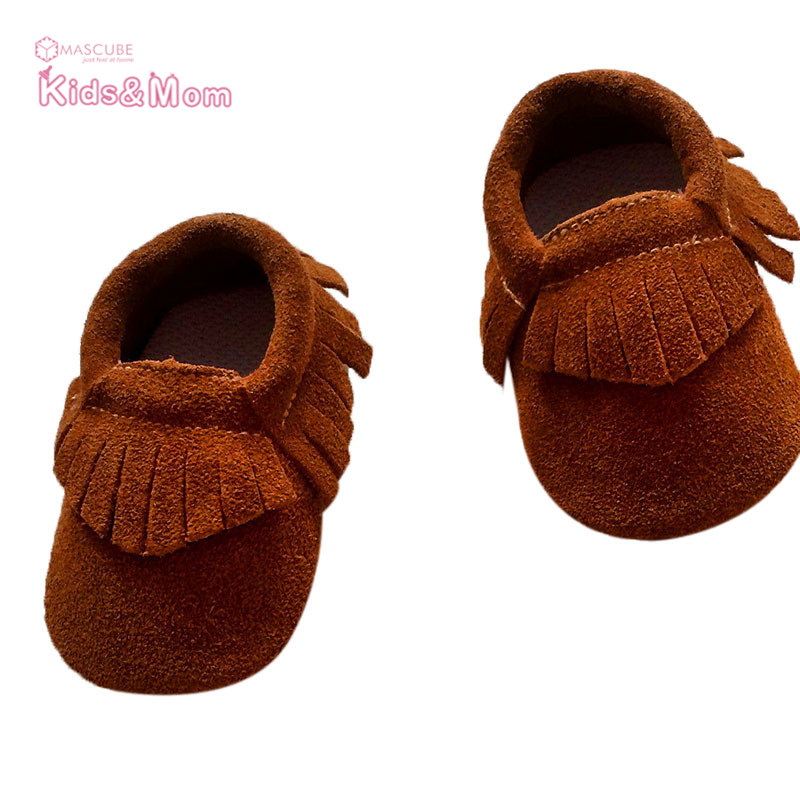 New Suede Leather Tassels Baby Moccasins Indoor Baby Girl Boy Shoes Chaussure Bebe Soft First Walkers Newborn Toddle Shoes(China (Mainland))