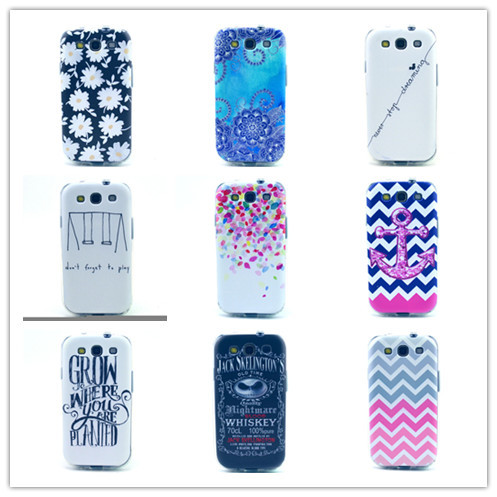 Newest Patterns Plastic Soft TPU Cell phone Case For Samsung Galaxy Siii i9300 Silicon Cover for galaxi s3(China (Mainland))