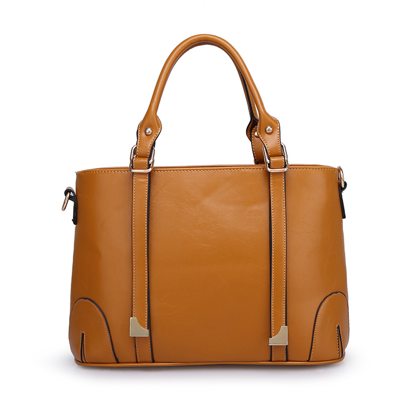 Women Handbags Genuine Leather Oil Wax Cowhide Motorcycle Shoulder Bag Top Famous Designer Brand Genuine Leather Handbags(China (Mainland))