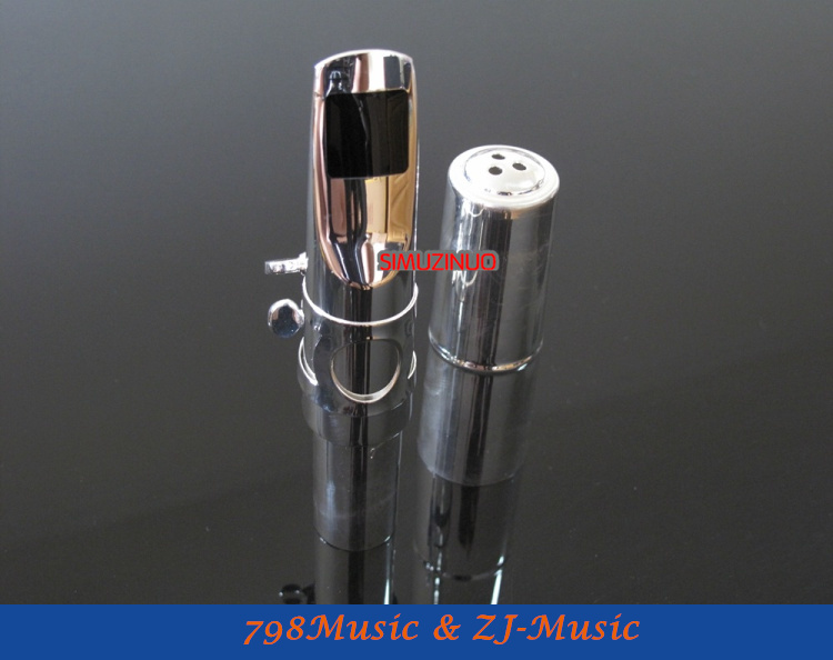 Professional  Silver  Plated Metal Mouthpiece Baritone Saxophone Sax<br><br>Aliexpress