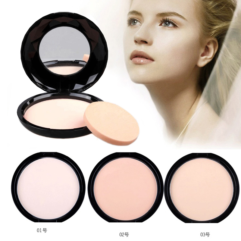 Make Up Brand 3 Color Long-lasting Oil-control Whitening Concealer Perfect Cover Face Base Mineralize Powder Palette Makeup(China (Mainland))