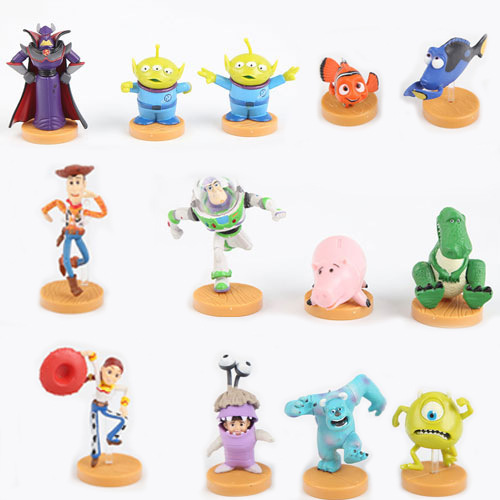 TOY STORY 3 BUZZ LIGHTYEAR WOODY Figures SET 13pcs/set toy story figures free shipping(China (Mainland))