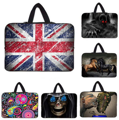 "Union Jack Notebook Laptop Bag 17.3 17.4 17"" inch Computer Carry Pouch Cover + Hide Handle For Dell Inspiron 17.3"" Mini PC Shell(China (Mainland))"
