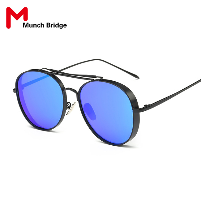 Classic Vintage Aviator Style Colored Lens Designer Sunglasses Polarized Outdoor Shades Women Sun Glasses Eyewear Accessories(China (Mainland))