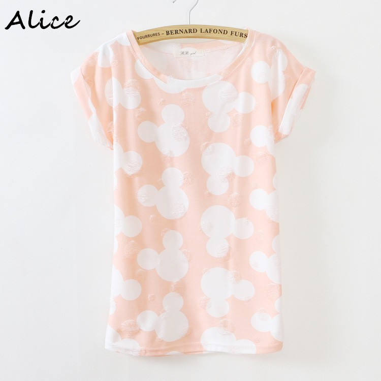 Alice fashion cartoon design two colors printing t shirt for Two color shirt design