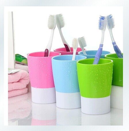 Creative couple drinking cup candy-colored wash multi-use plastic toothbrush cup Cups(China (Mainland))