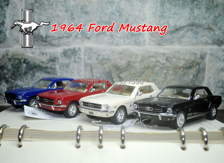 (5pcs/pack) Wholesale Brand New KINGSMART 1/36 Scale USA 1964 Ford MUSTANG Diecast Metal Pull Back Car Model Toy(China (Mainland))