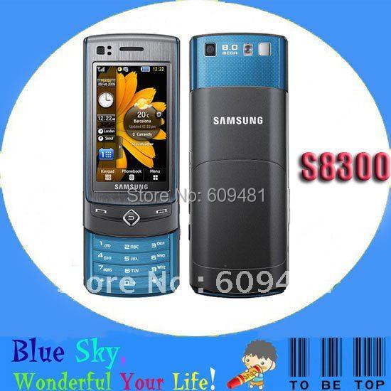 Quad band Refurbished original 3G phone Samsung S8300 slider unlocked phones(China (Mainland))
