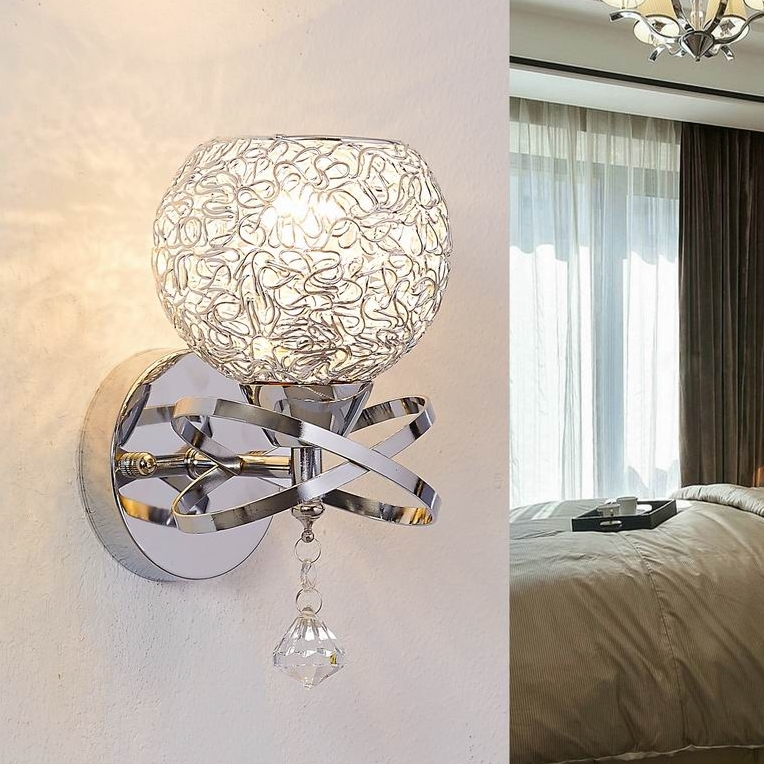 crystal wall lamps bedroom bedside wall lights kitchen cabinet wall